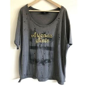 Let Loose by RNL 2XL Graphic Tee Ripped Distressed